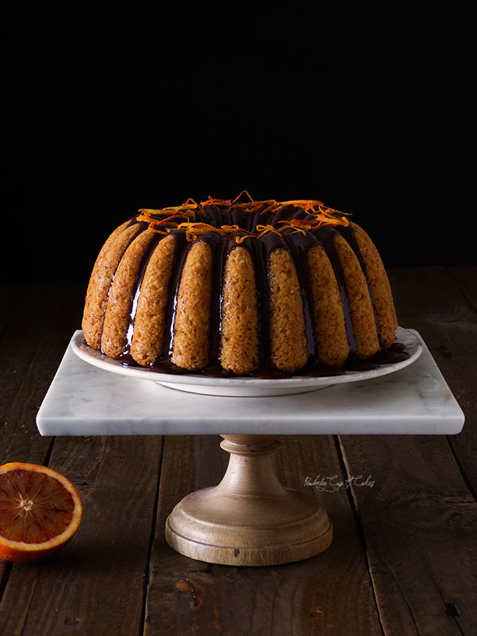 Bundt Cake de naranja sanguina y cardamomo {Blood Orange Bundt Cake}