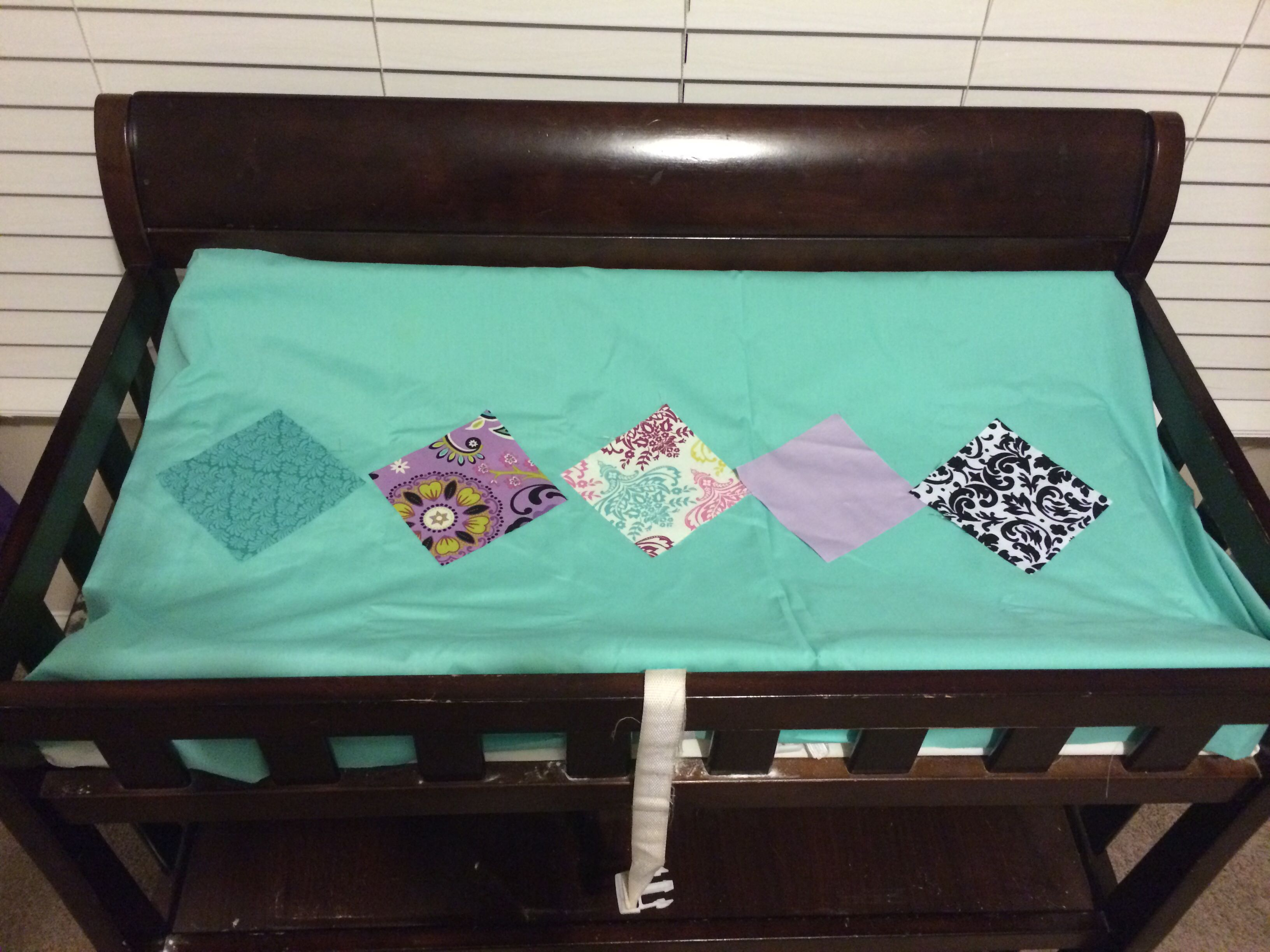 Handmade changing table cover changing table cover