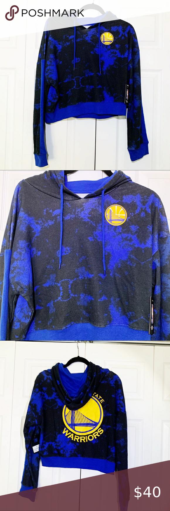 NWT Golden State Warriors Blue Tie Dye Sweatshirt NWT in