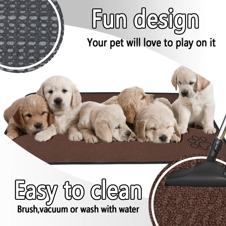 Sinland Microfiber ExtraLarge Pet Food Mat Dog Feeding Mat