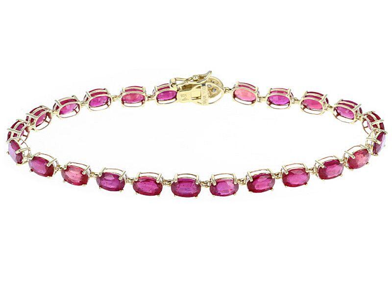 Angara Ruby and Diamond Tennis Bracelet - July Birthstone Bracelet hRPKYtQb