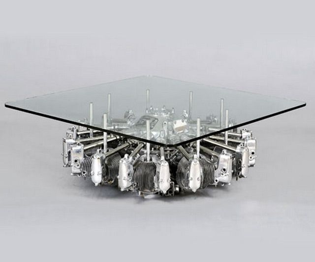 Airplane Engine Coffee Table Engine Table Engine Coffee Table