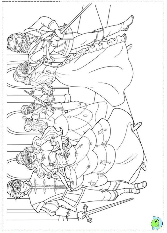 Pin by alycia on kleurplaten | Pinterest | Barbie coloring and ...