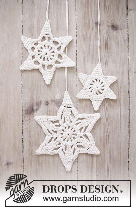 Wishing Stars - Navidad DROPS: Estrellas DROPS en ganchillo con ...