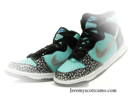 7075dcca35a5 Tiffany Blue Nikes Girls Dunks High GS Diamond Custom Black  64.66 ...
