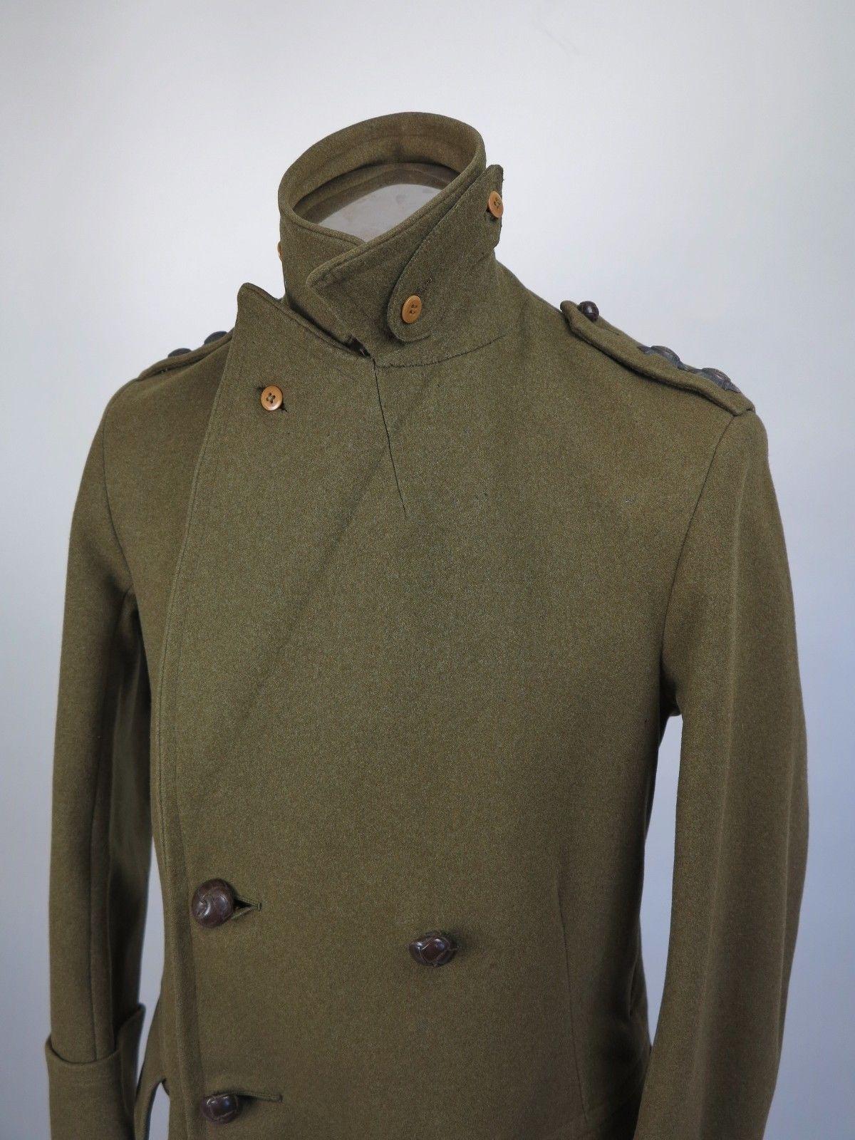 British Greatcoat WW1 Coat WW2 Greatcoat Officers Coat Bespoke Vtg ...