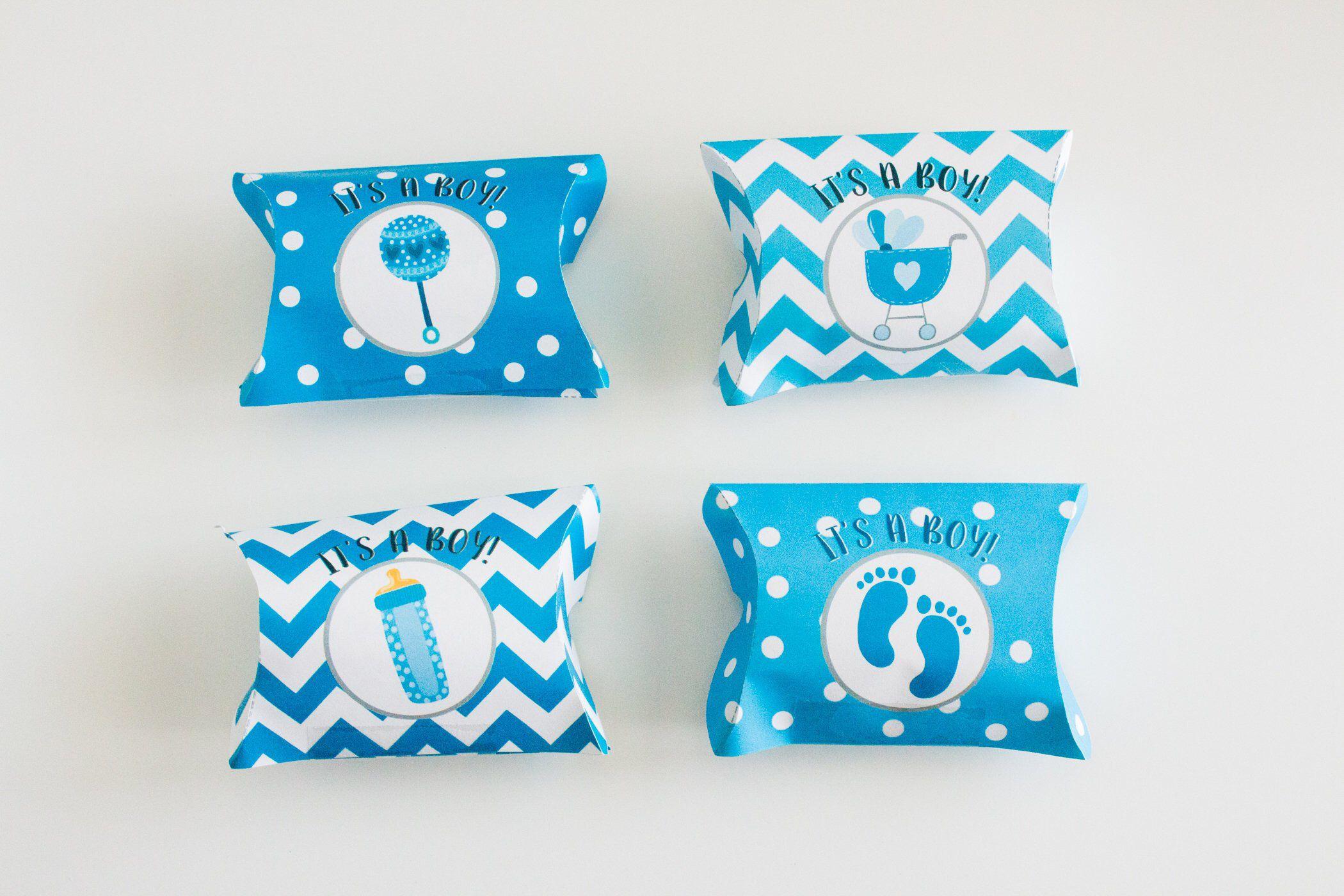 Baby Boy Favor Boxes  Baby Pillow Boxes  Printable