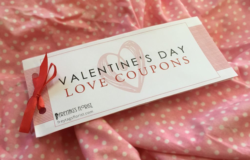 Free downloable Valentines Day Love Coupons