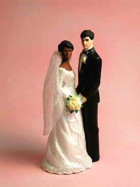 Large selection of interracial cake toppers. Awesome.    Interracial Cake Top (Dark Brown/Caucasian) - Our Special Day