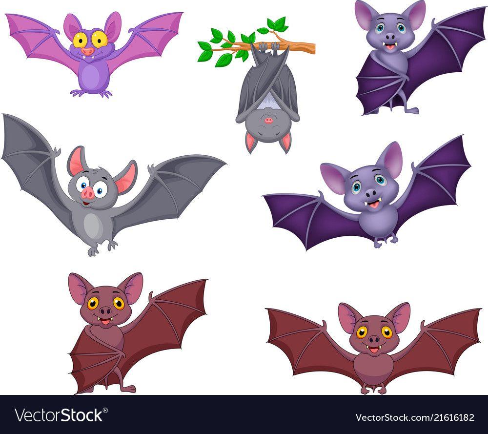 Cartoon Bats Collection Set Royalty Free Vector Image Cartoon Bat Cute Elephant Cartoon Cute Turtle Cartoon
