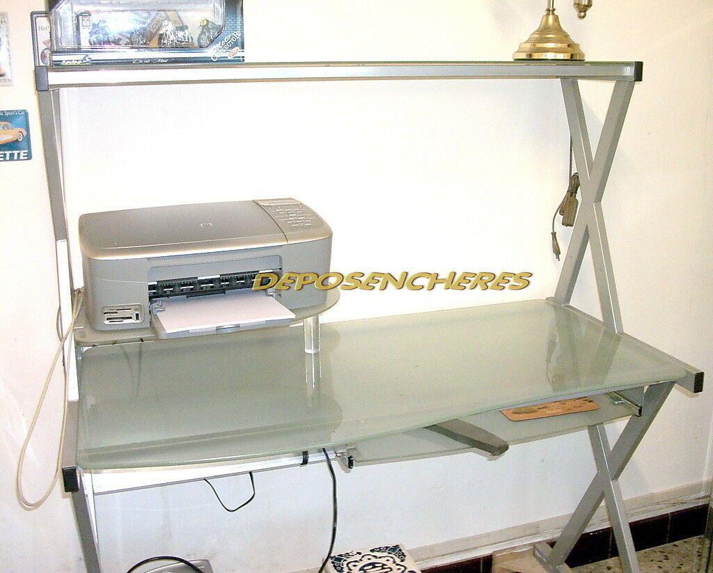 Bureau Table Meuble Informatique Metal Et Verre Informatique Idees De Informatique Informatique Meuble Informatique Meuble
