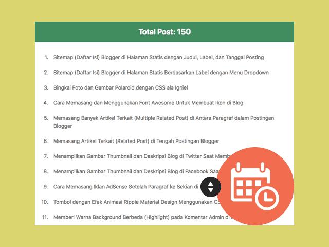 Sitemap Daftar Isi Blogger Di Halaman Statis Hanya Judul Saja Igniel Blog Blogger Halaman