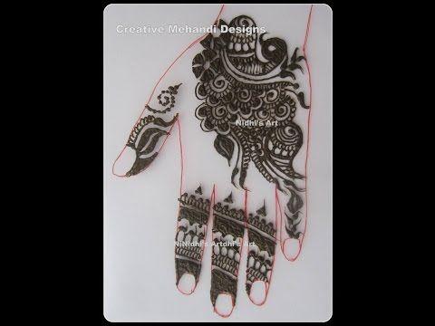 YouTube arabic henna mehndi design