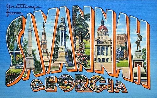 savannah ga postcard - Google Search