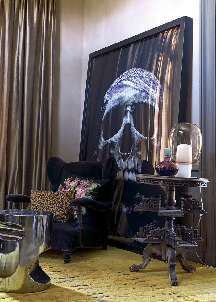 """Gothic Interior Design Living Room: Une Maison Normande Au Style """"barock'n Roll"""""""