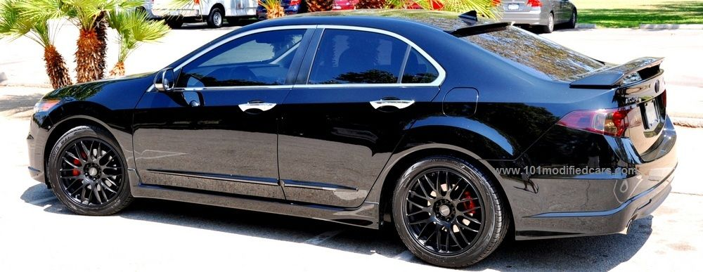 Modified Acura TSX Sedan Nd Generation CU Black Color With Body - Acura tsx rims 18