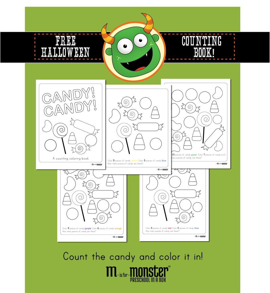 Free Halloween Candy Counting Book Printable for Toddlers and ...