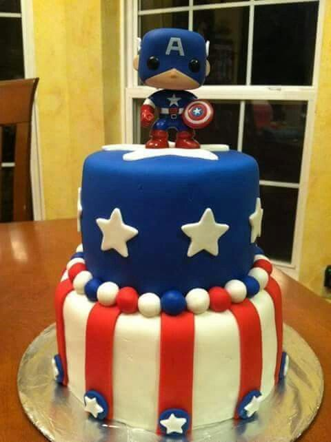 Captain America cake Alexs 2nd birthday Pinterest Captain