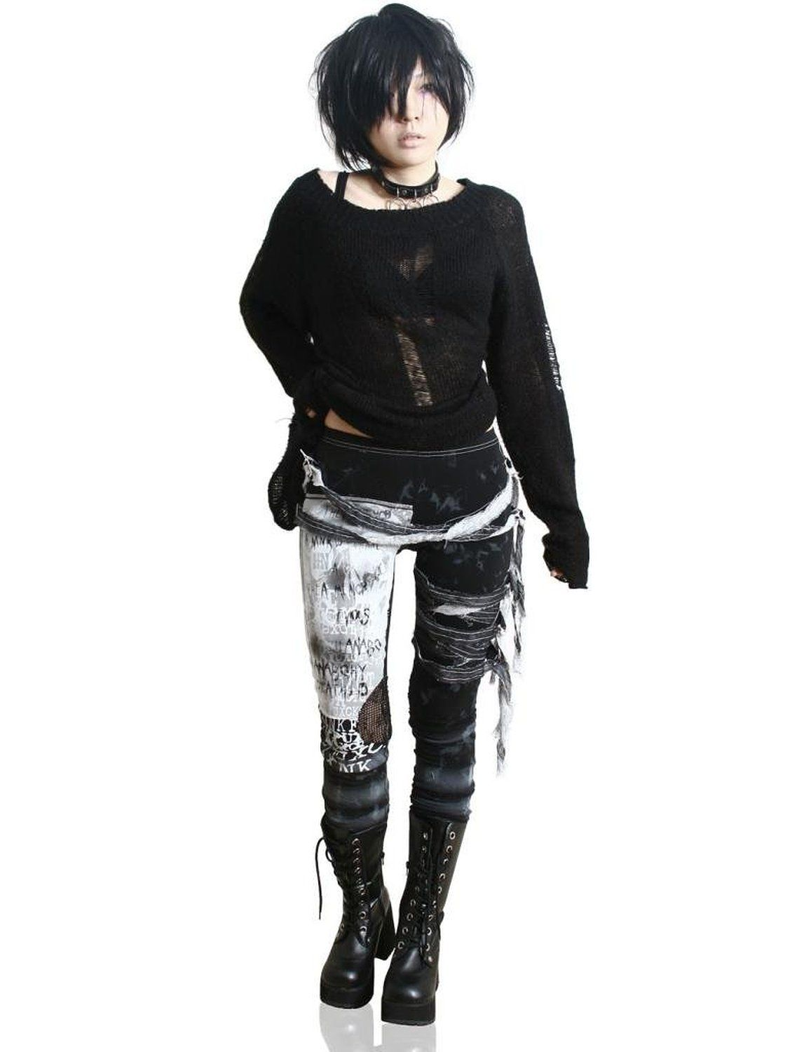 Refuse to be Usual women's Ultra long Tie Dye Gothic Punk Leggings at Amazon…