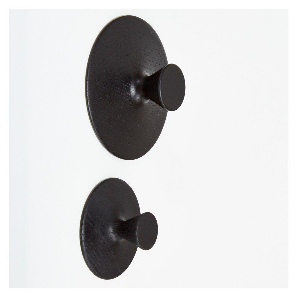 Oak Wall Hook Black Medium  - Storage & Utility - Home Accessories - The Conran Shop