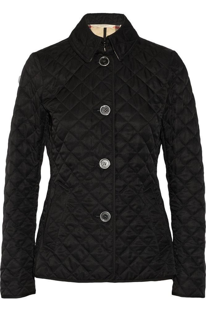 Burberry Brit Women S Black Copford Heritage Diamond Quilted Jacket Xs L Xl Shell Jacket Quilted Jacket Jackets