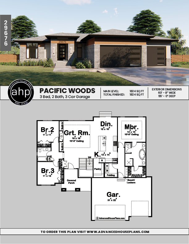 1 Story Modern Prairie Style Plan Pacific Woods Unique House Plans Model House Plan Prairie Style Houses