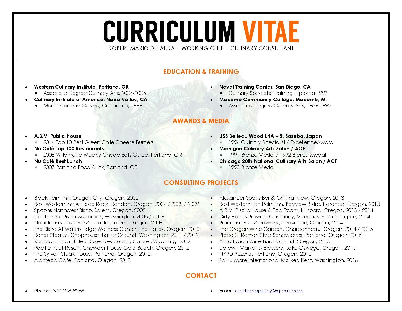 unique cv resume design to resemble a restaurant menu format unique cv resume design to resemble a restaurant menu format