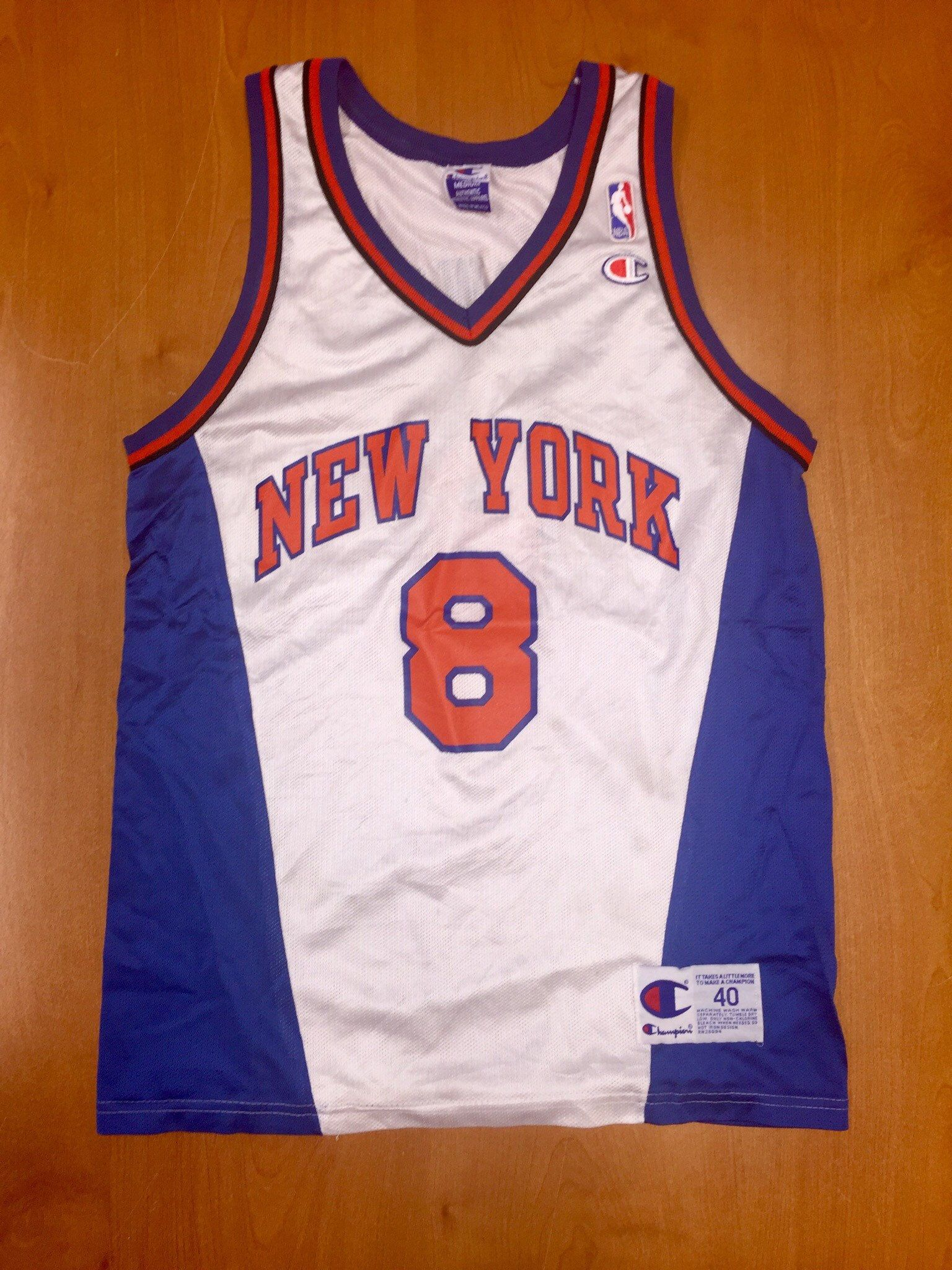 newest d86a6 9d795 Vintage 1998 Latrell Sprewell New York Knicks Champion ...