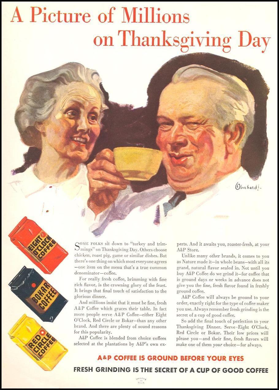 8 O Clock Coffee Vintage Advertisements Vintage Ads Old Ads