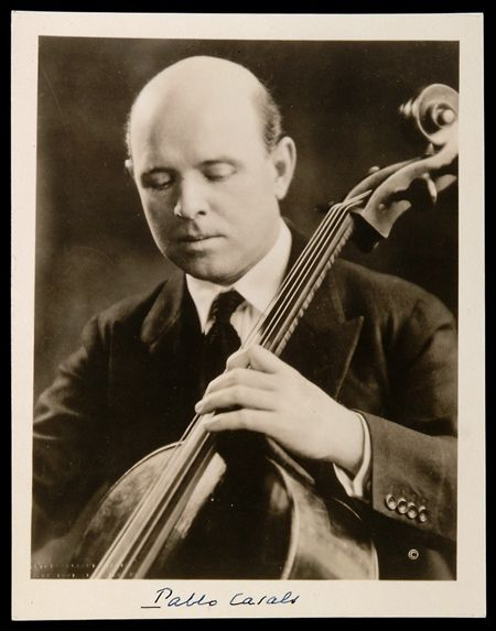 A younger Pablo Casals.  This remarkable cellist is best known for rediscovering the Bach cello suites- now a foundation of the cello repertoire- and for his political activism.