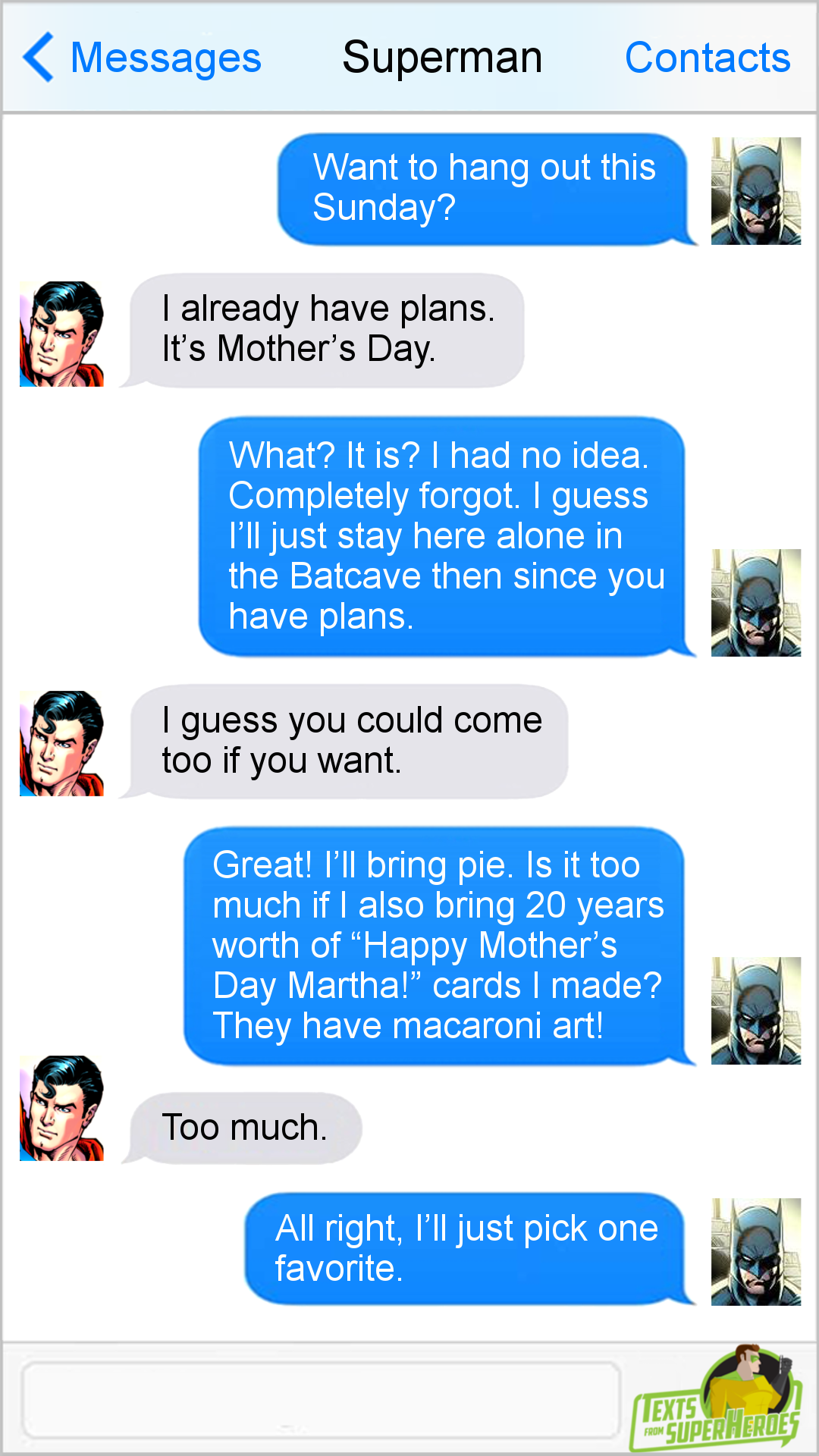 Texts From Superheroes Facebook | Twitter | Patreon | DC comics