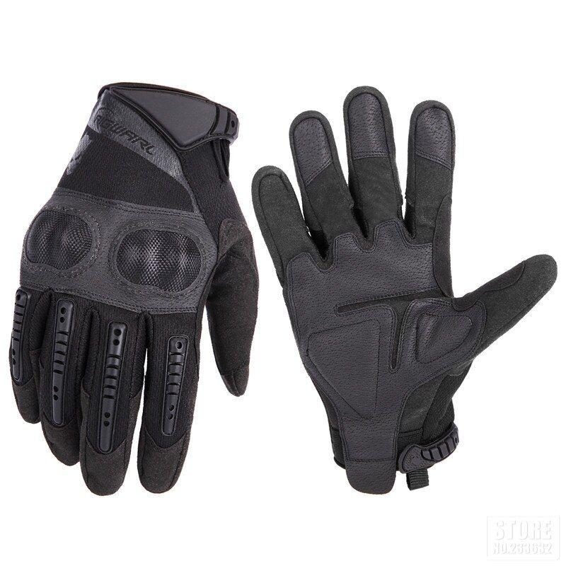 Street Bike Full Finger Motorcycle Racing Gloves 09 XL, black//red