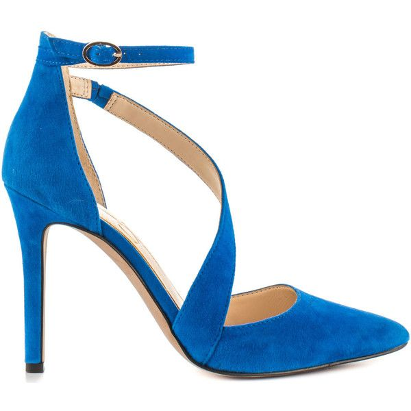 Jessica Simpson Women's Castana - Blue Nile Lux Kid Suede ($90) ❤ liked on