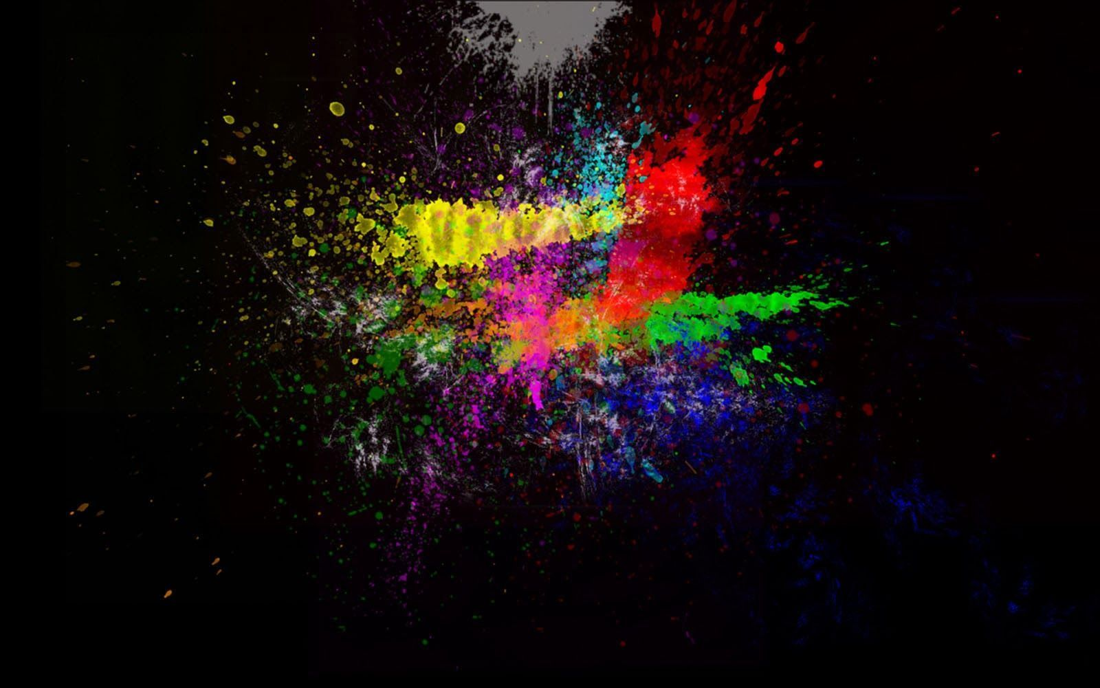 Rainbow Color Splash Background Wallpaper Download HD | Best
