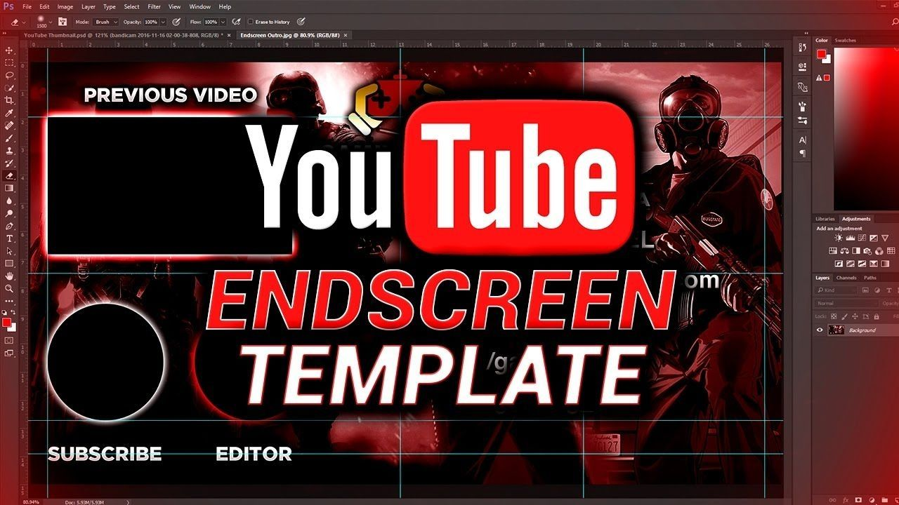 Free Youtube Outro Endscreen Template Photoshop Download Youtube Inside Youtube End Screen Template Photoshop 54938 Templates Photoshop Youtube