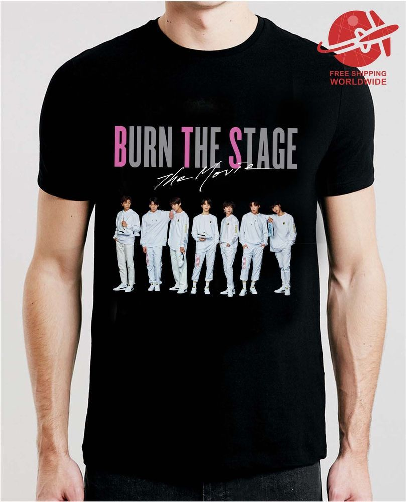 BTS Burn The Stage The Movie T Shirt Black Cotton #fashion