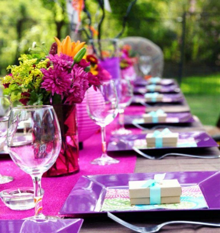 d coration table anniversaire 50 propositions pour l 39 t en t d corations de table et lilas. Black Bedroom Furniture Sets. Home Design Ideas