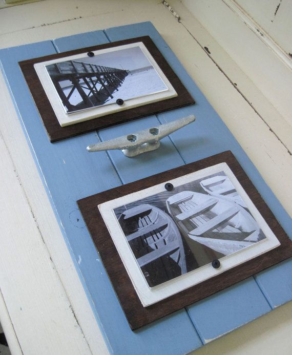 Double Picture Frame with Boat Cleat You Choose Colors   Coat racks ...