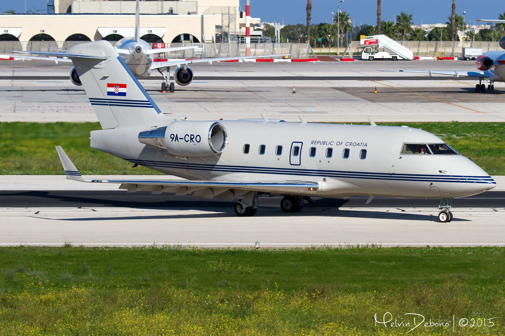 Croatia Government Bombardier CL-600-2B16 Challenger 604  '9A-CRO'  LMML | Valletta Summit 2015