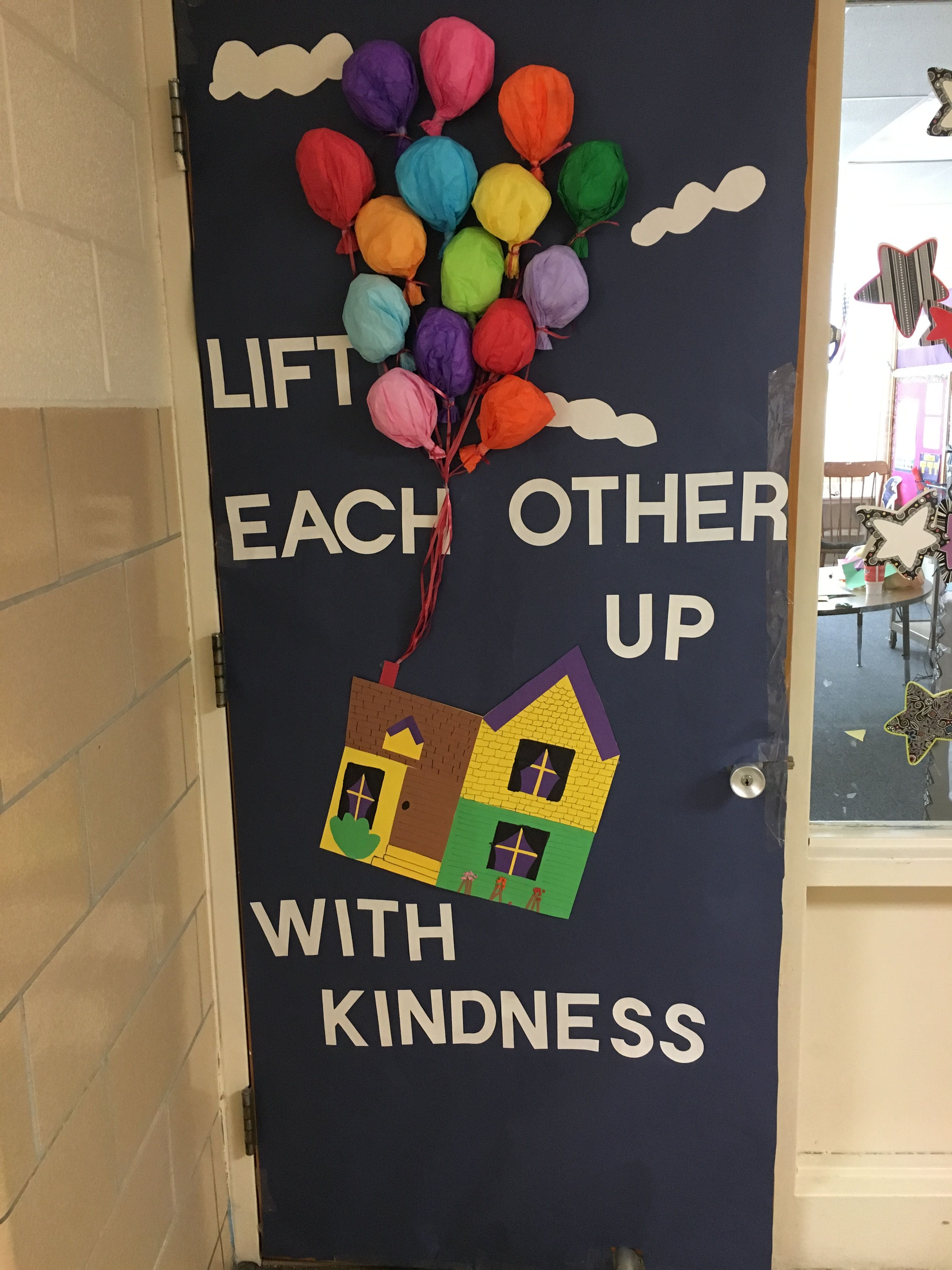 Lift Each Other Up With Kindness Door Decoration
