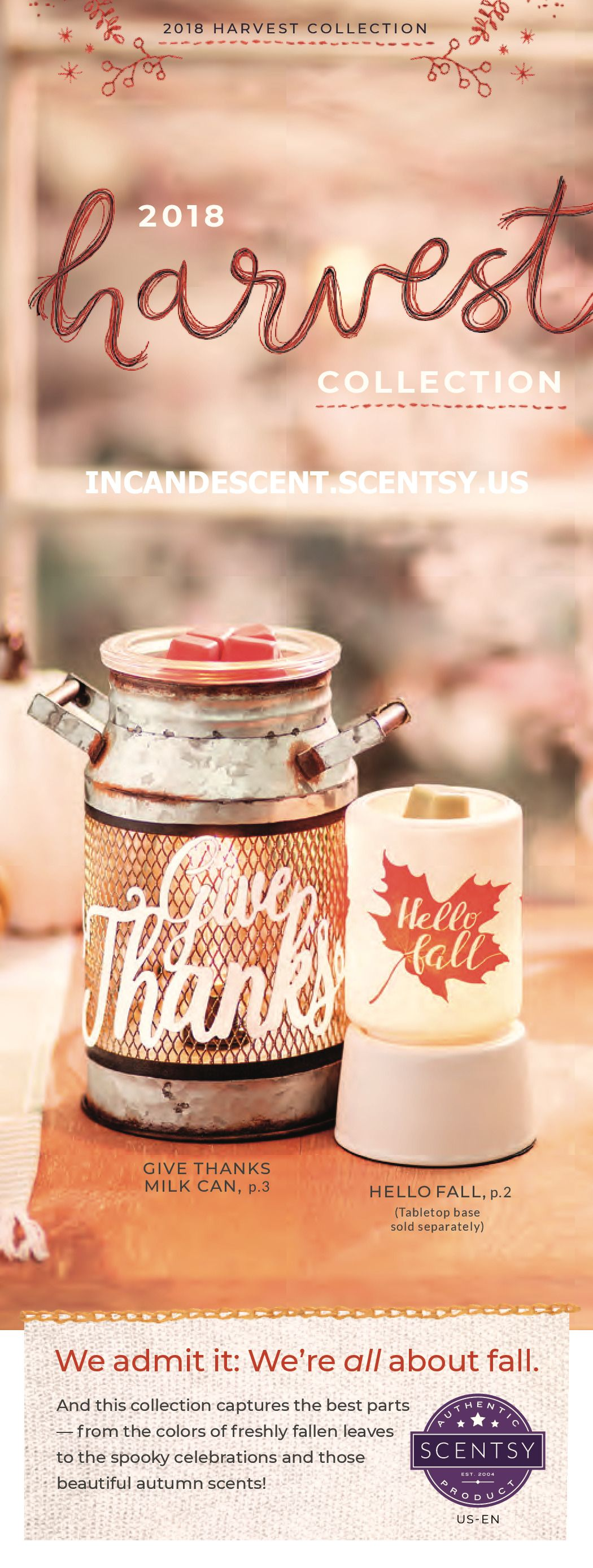 SCENTSY HALLOWEEN HARVEST 2018 COLLECTION Scentsy, Fall