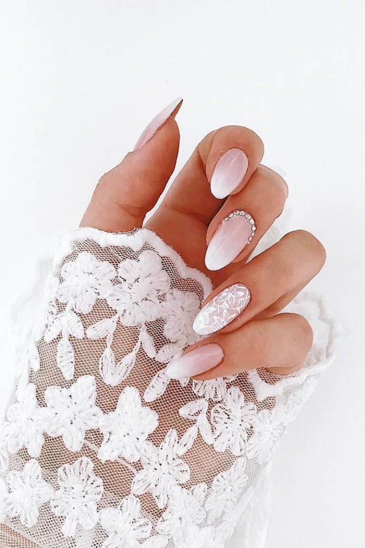 30 Fairy Like Wedding Nails For Your Big Day In 2020 With Images