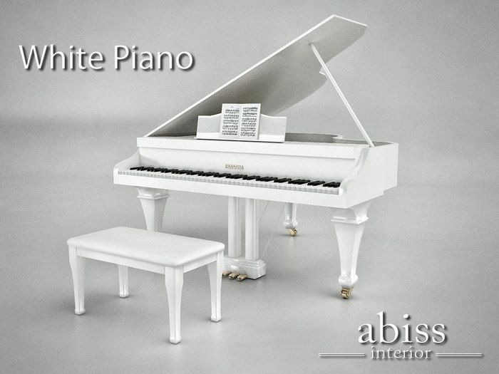 Abiss Piano White boxed - mesh made grand piano   THIS IS A VERY WELL KNOWN PIANO ACROSS SECOND LIFE