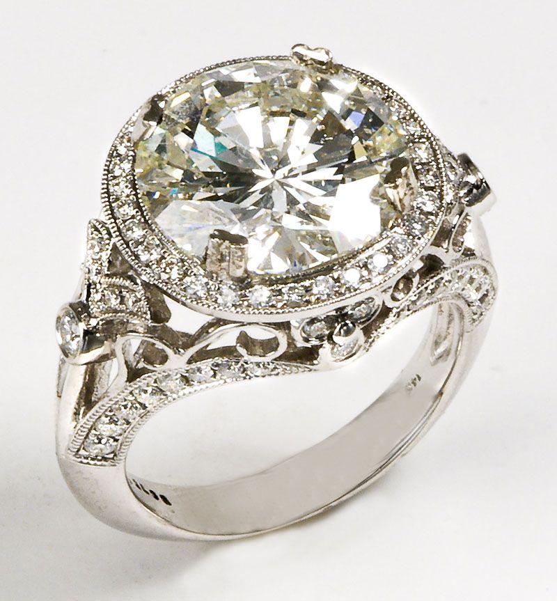 6.88 Carat Diamond Ring at Dan O'Meilia's Antiques