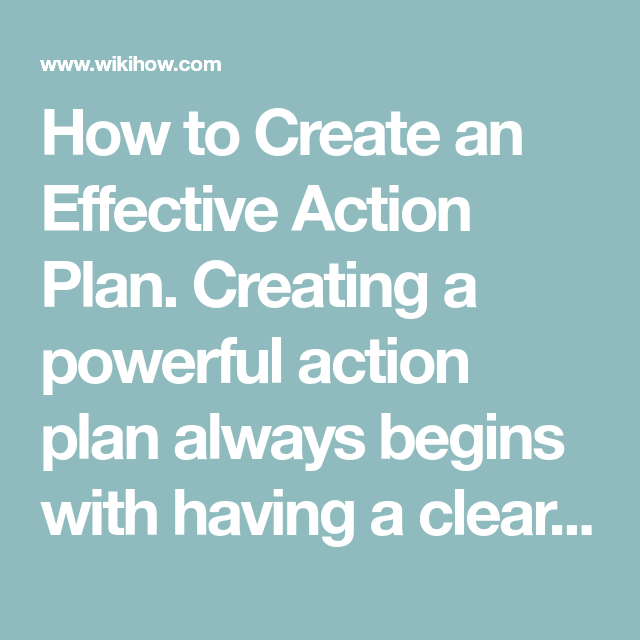 How to Create an Effective Action Plan in 2020 | Action ...