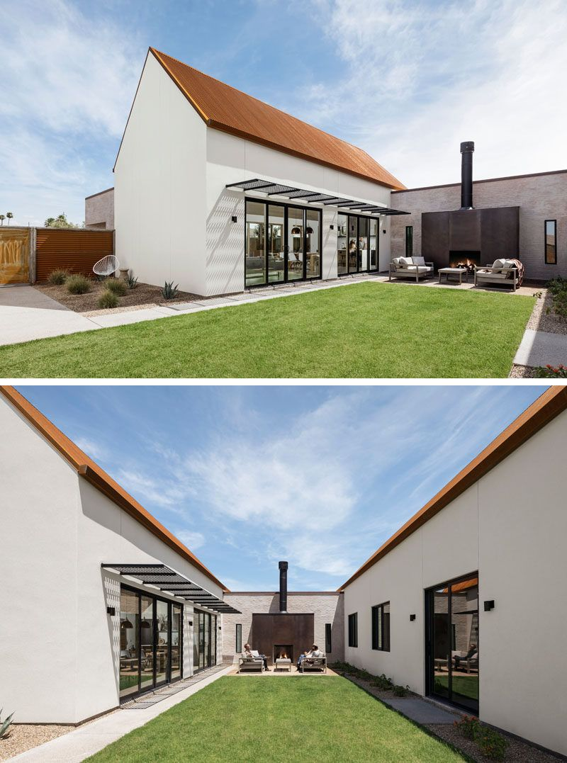 This New House In Phoenix Is Covered By A Rusted Corrugated Roof S Izobrazheniyami Dom
