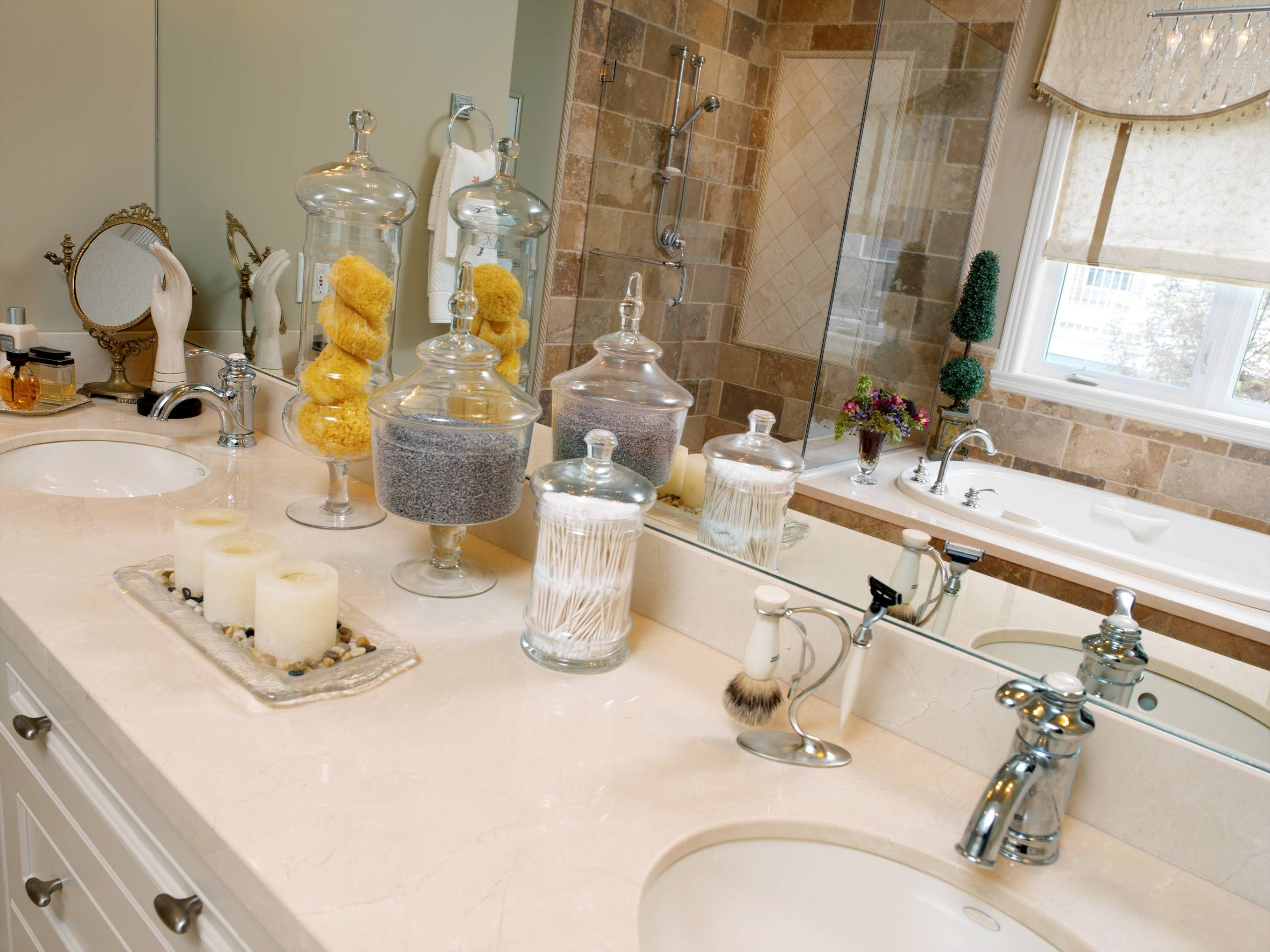 bathroom apothecary jar ideas