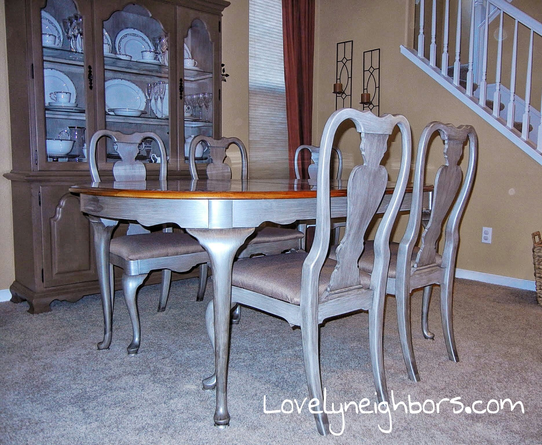 dining table metallic paint google search ob apt pinterest dining table metallic paint google search