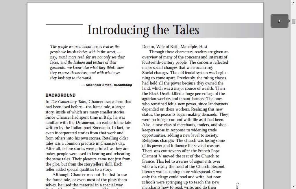 pdf study guide for the canterbury tales glencoe teaching tools rh pinterest com G10 Teachers Grading Guide First G10 Teachers Grading Guide First