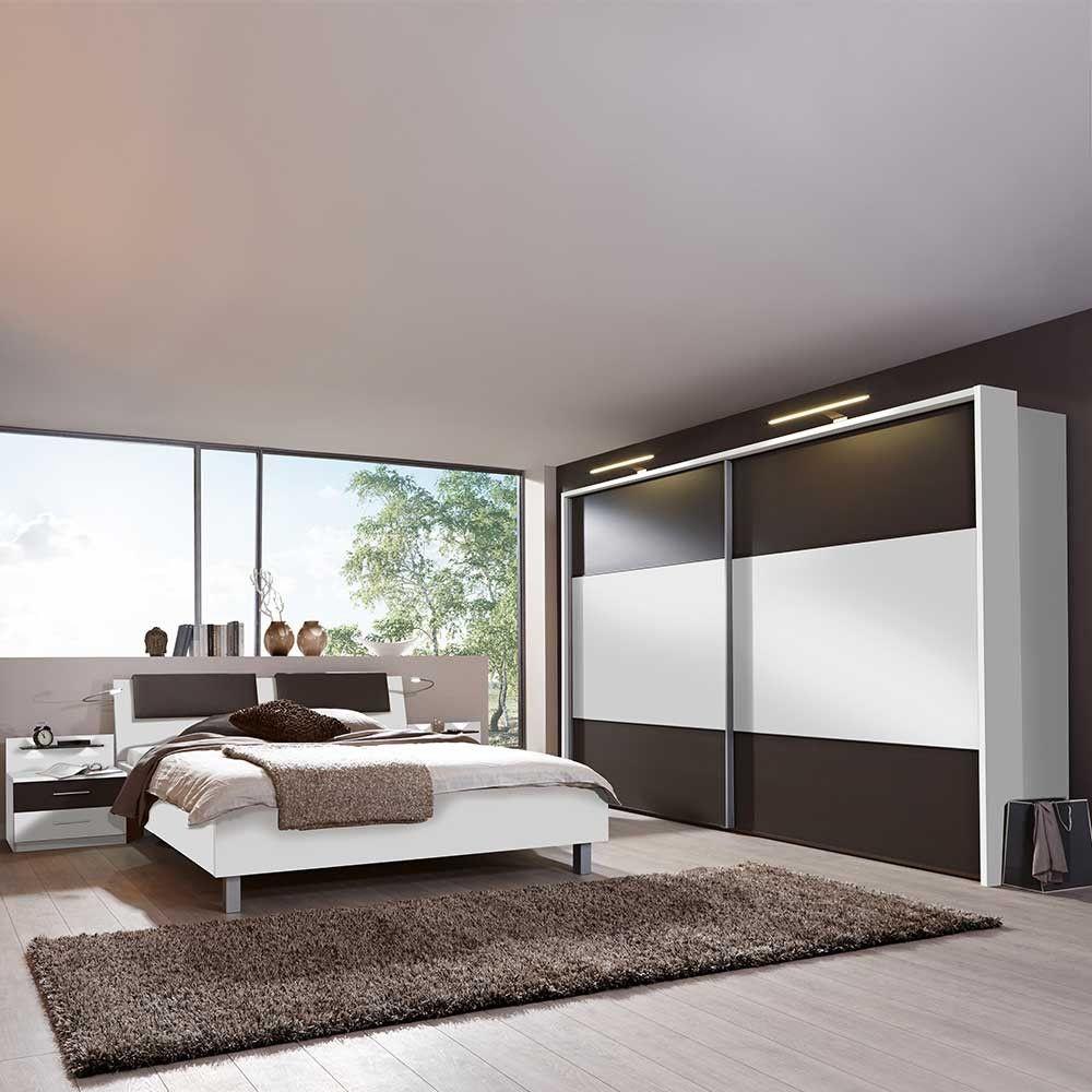 Schlafzimmer Set Rajada in Weiß Braun | Schlafzimmer Ideen ...
